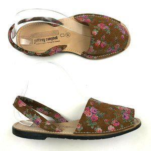 Jeffrey Campbell Floral Leather Sandals